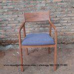 Kursi Cafe Minimalis Kayu Jati Solid