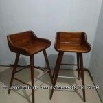 Kursi Bar Stool Kayu Jati Solid