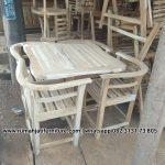 Gambar Set Kursi Cafe Kayu Jati Murah