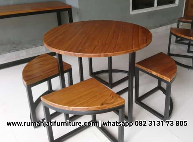 Gambar Set Kursi Cafe Murah Rangka Besi