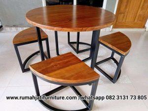 Set Kursi Cafe Murah Rangka Besi