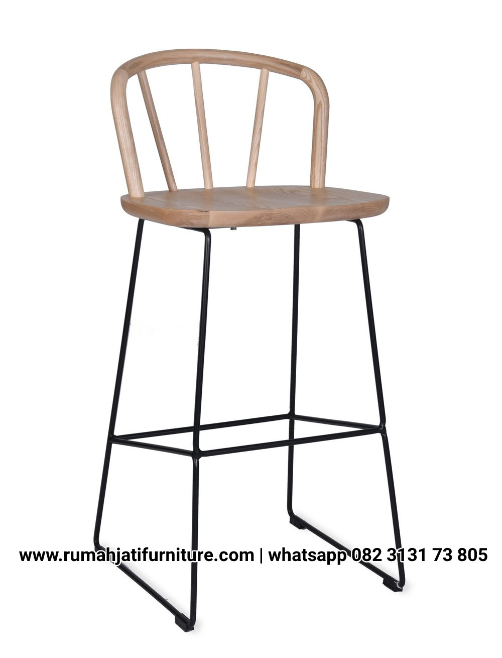 Gambar Bar Stool Industrial Kombinasi Jati | RUMAH JATI FURNITURE