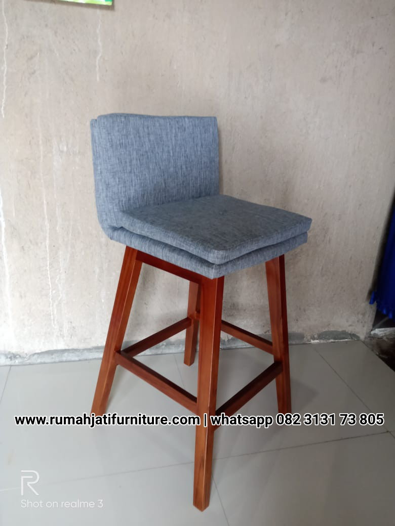 Gambar Kursi Bar Cafe Kayu Jati Solid | RUMAH JATI FURNITURE