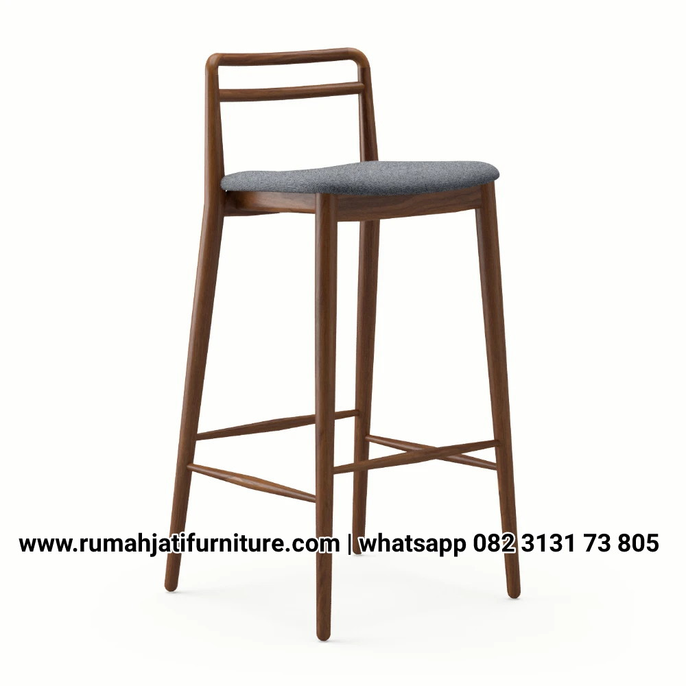 Gambar Kursi Bar Natural Retro Vintage | RUMAH JATI FURNITURE