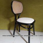 Kursi Cafe Rotan Natural Kayu Jati Solid
