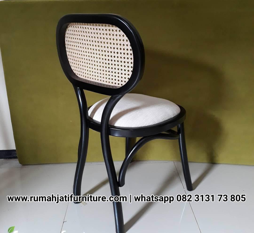 Gambar Kursi Cafe Rottan Kayu Jati Solid