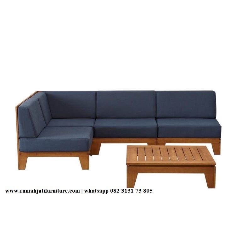 Gambar Sofa Sudut Ruang Tamu Minimalis | RUMAH JATI FURNITURE