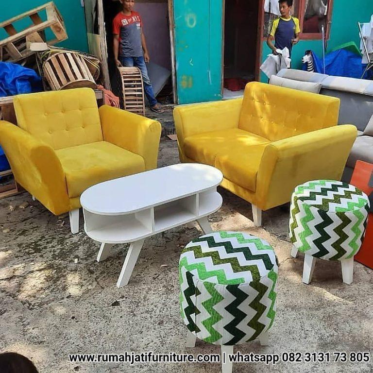 Gambar Set Sofa Retro Ruang Tamu Minimalis | RUMAH JATI FURNITURE
