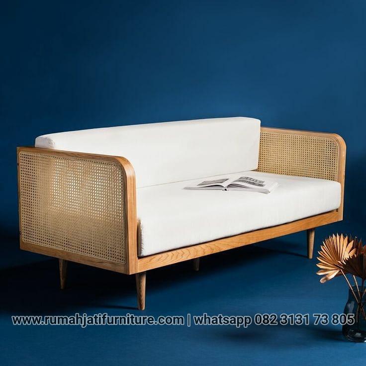 Gambar Kursi Sofa Jati Kombinasi Rotan | RUMAH JATI FURNITURE