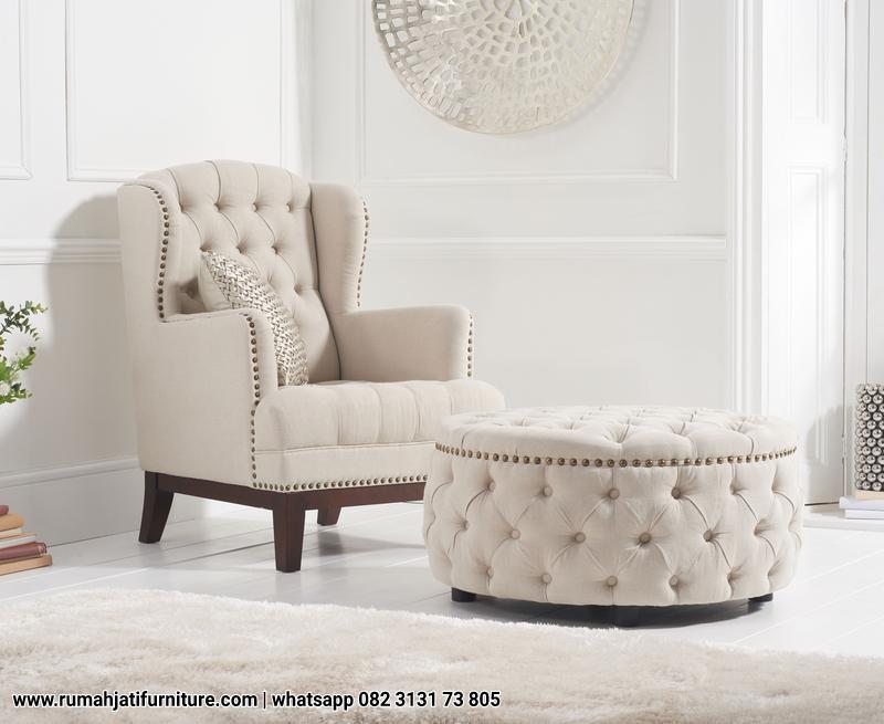 Gambar Sofa Santai Ibu Menyusui Model Chester | RUMAH JATI FURNITURE