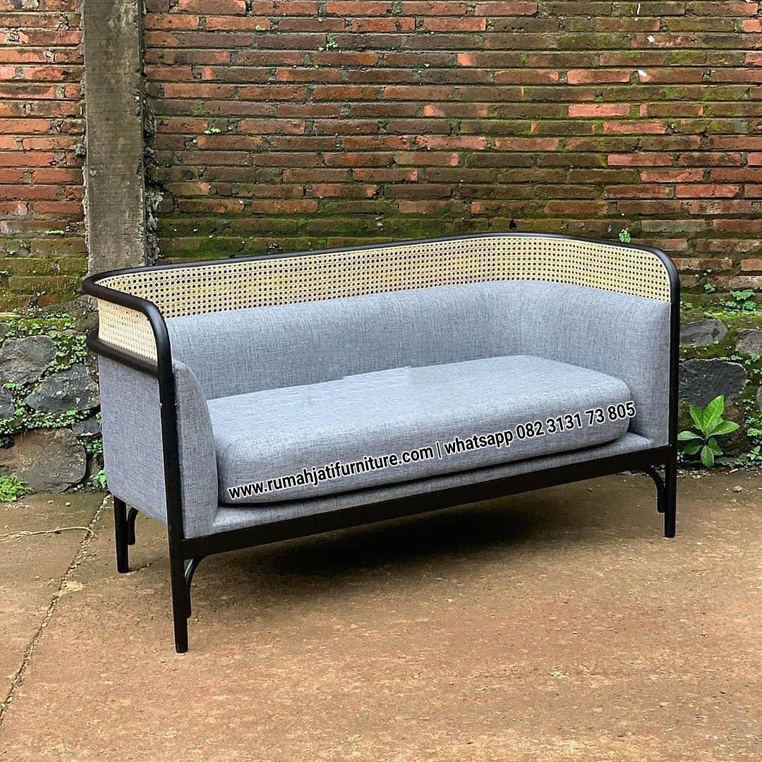 Gambar Sofa Rotan Kombinasi Kayu Jati Busa Empuk | RUMAH JATI FURNITURE