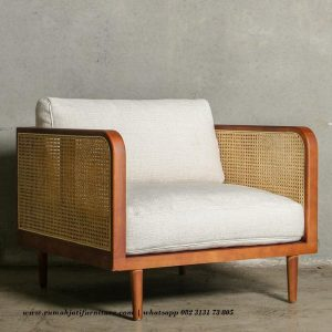 Sofa Single Seat Natural Rattan