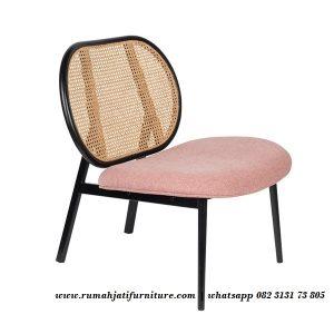 Sofa Single Sandaran Oval Rotan Alami
