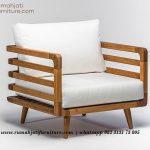 Gambar Sofa Single Minimalis Full Kayu Jati | Rumah Jati Furniture