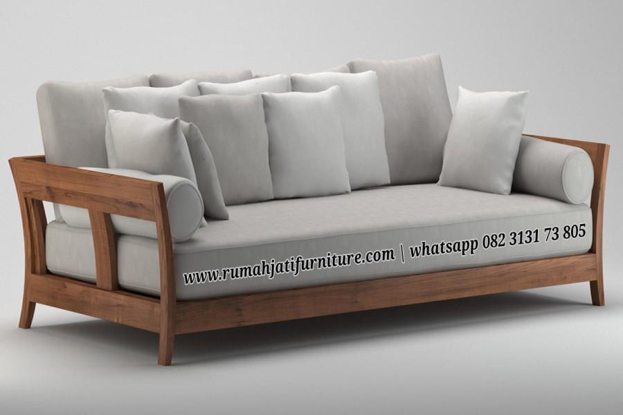 Gambar Sofa Bangku Retro Vintage 3 Seater | Rumah Jati Furniture