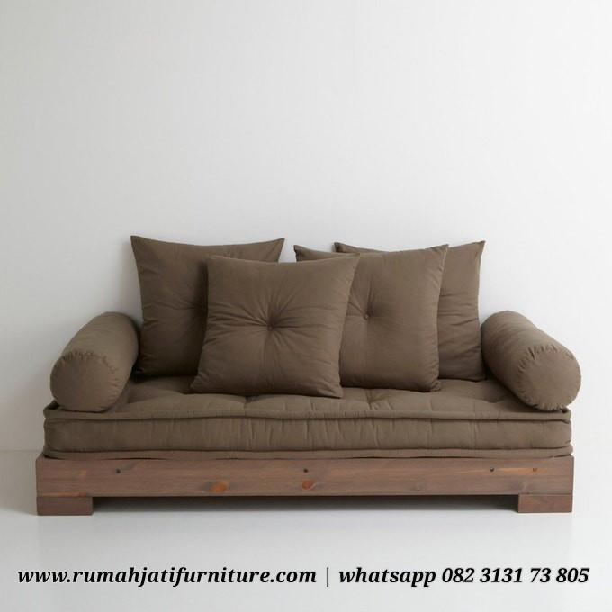 Gambar Sofa Bed Kayu Jati Multifungsi | Rumah Jati Furniture