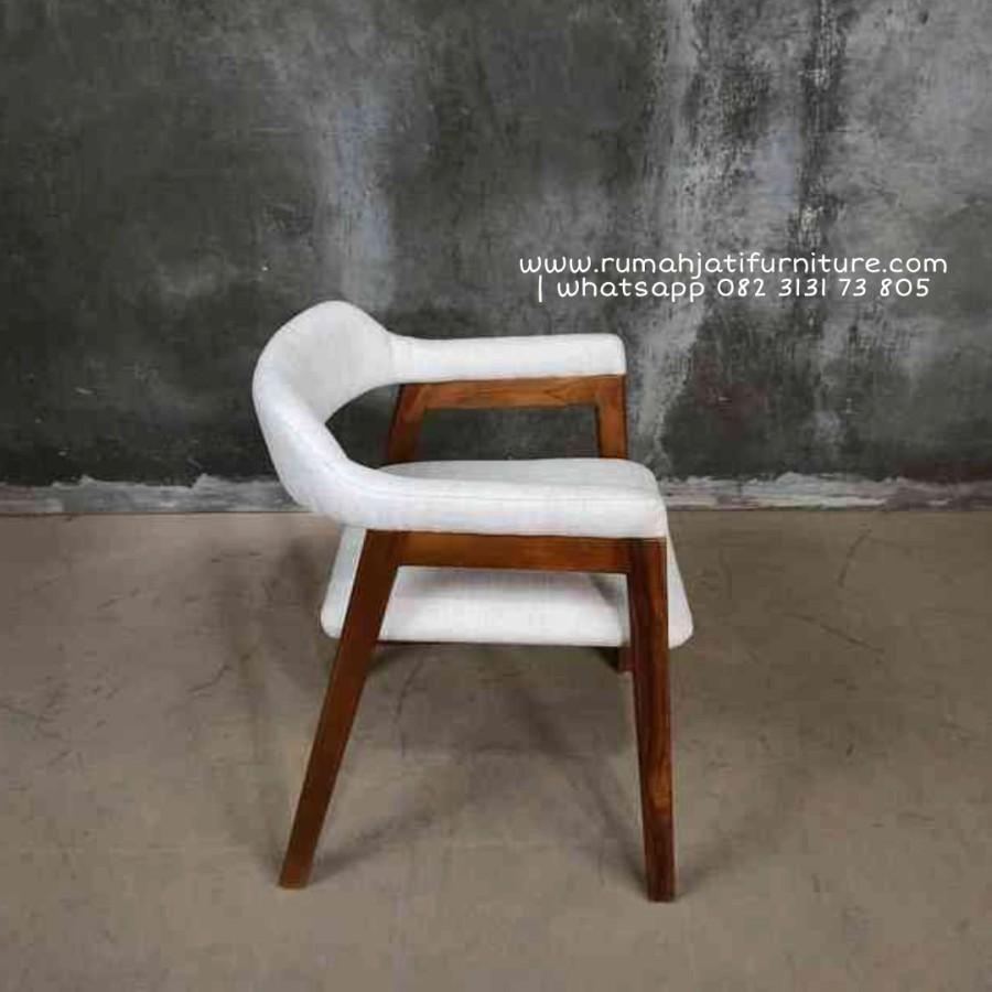 Gambar Kursi Makan Selia Model Terbaru Dobel Jok | Rumah Jati Furniture