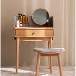 Gambar Meja Rias Simpel Minimalis Natural Kayu Jati | Rumah Jati Furniture