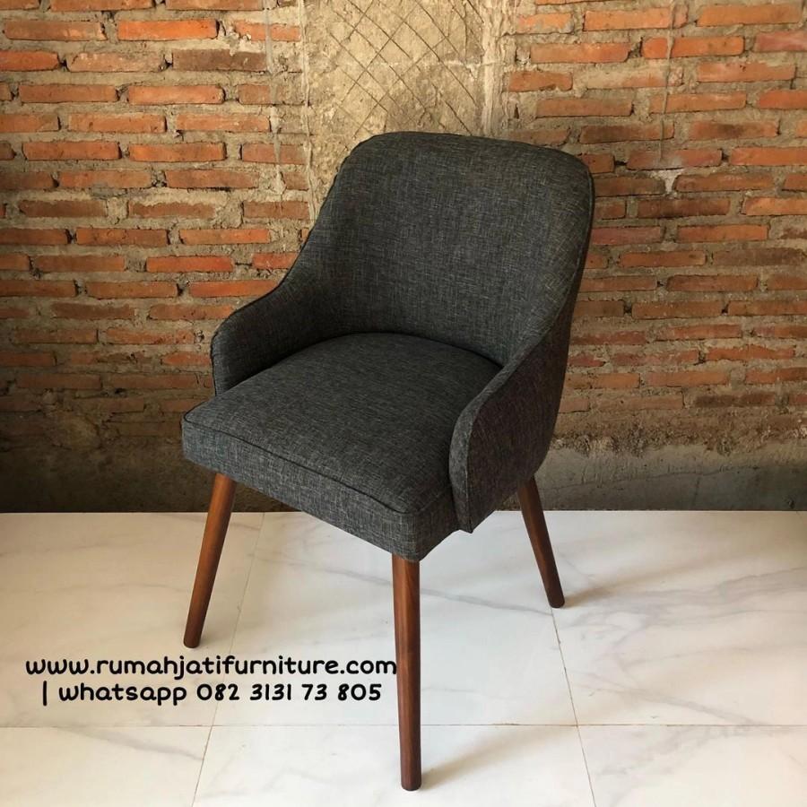 Gambar Kursi Makan Sofa Minimalis Jok Kayu Jati | Rumah Jati Furniture
