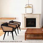 Gambar Kursi Tamu Single Rotan Reddie Kayu Jati | Rumah Jati Furniture