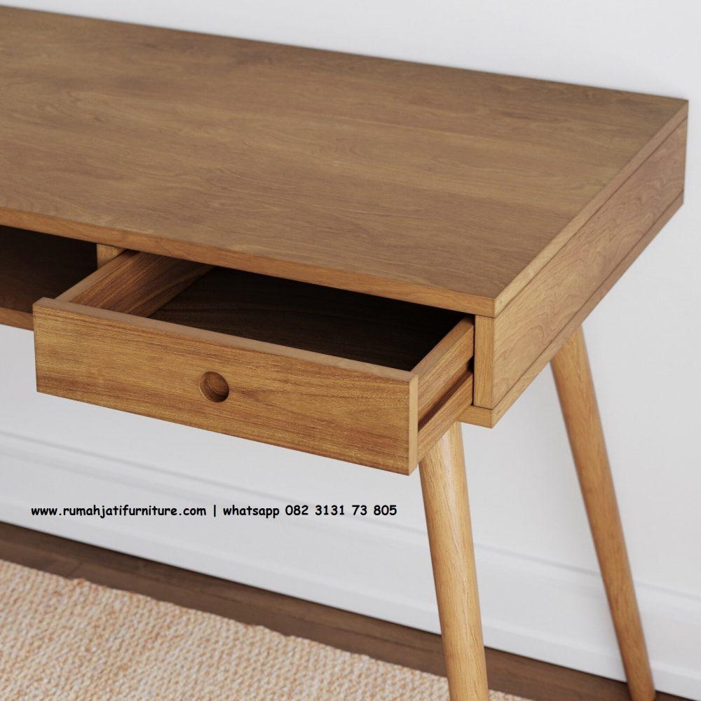 Gambar Meja Belajar Simpel Kayu Jati | Rumah Jati Furniture