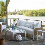 Sofa Single Kayu Jati Kombinasi Rotan Lengkung