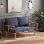 Gambar Sofa Retro Vintage 2 Seater Jari Jari Kayu Jati | Rumah Jati Furniture