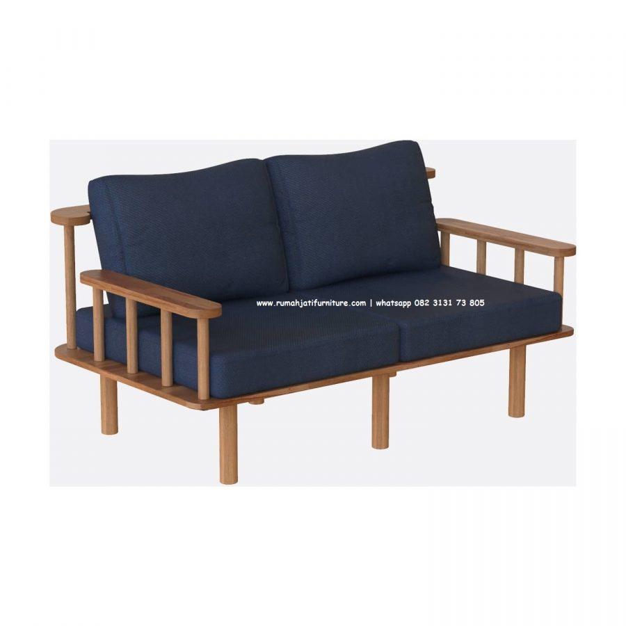 Gambar Sofa Retro Vintage 2 Seater Jari - Jari   Rumah Jati Furniture
